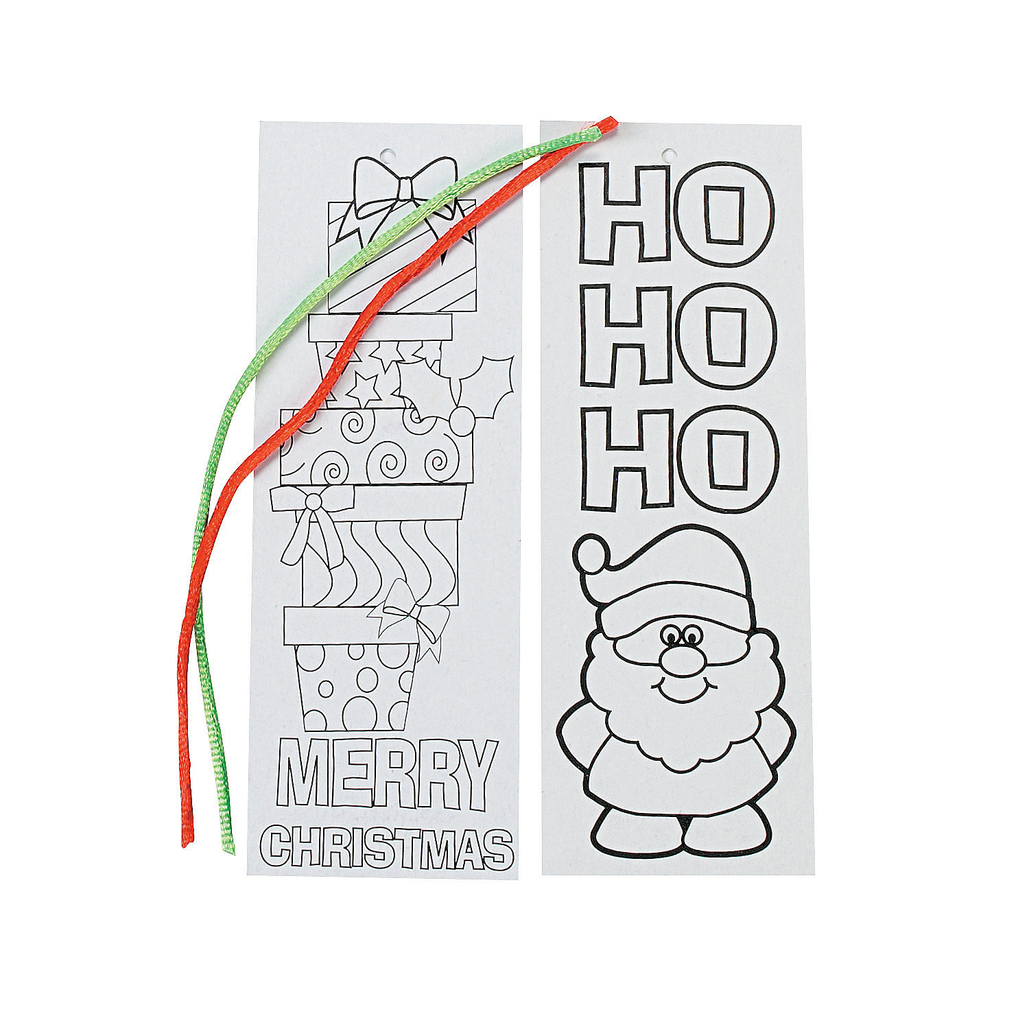 Color Your Own Religious Christmas Ornaments: Color Your Own Christmas Bookmarks