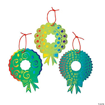 Magic Color Scratch Wreath Ornaments