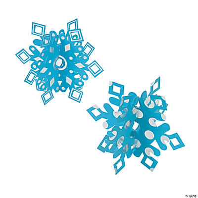 3D Magic Scratch Foil Snowflakes
