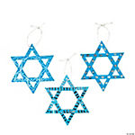 Magic Scratch Foil Star of David Ornaments