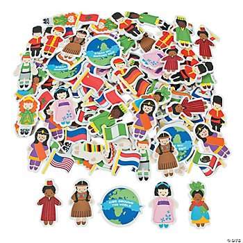 Kids Around The World Foam Shapes