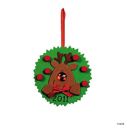 """2011"" Reindeer Ornament Craft Kit"