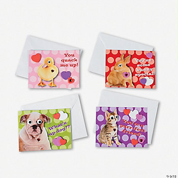 Realistic Wiggle Eye Animal Valentines Craft Kit