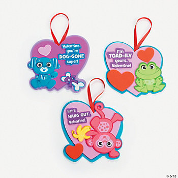 Animal Valentine Foam Ornament Craft Kit