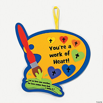 """You're A Work Of Heart"" Craft Kit"
