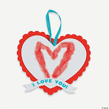 Heart Handprint Valentine Sign Craft Kit