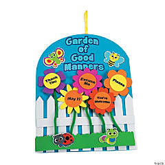 """Garden Of Good Manners"" Sign Craft Kit"