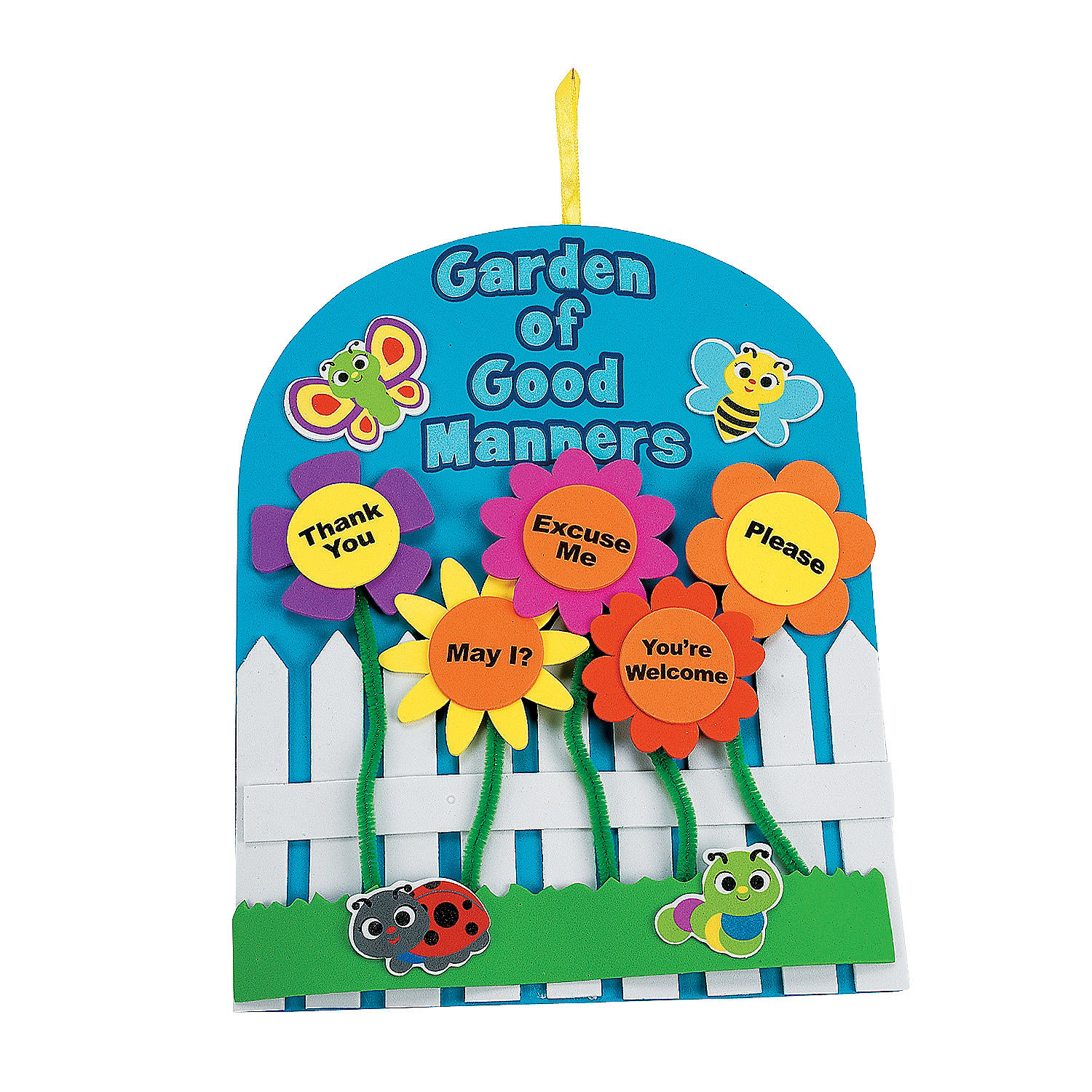 Garden of good manners sign craft kit oriental trading