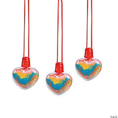 Heart Sand Art Bottle Necklaces