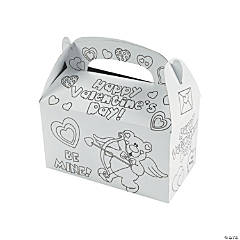 Color Your Own Valentine Boxes