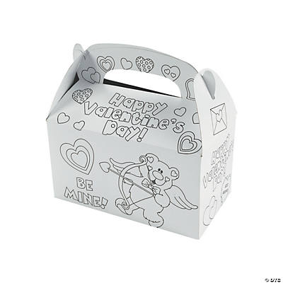 Color Your Own Valentine Boxes Oriental Trading