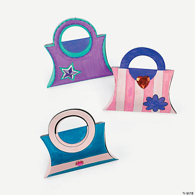 Color Your Own Mini Princess Purses