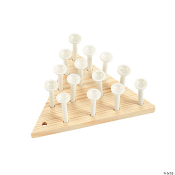 DIY Unfinished Wood Peg Games