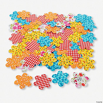 Fabric Flower Self-Adhesive Shapes
