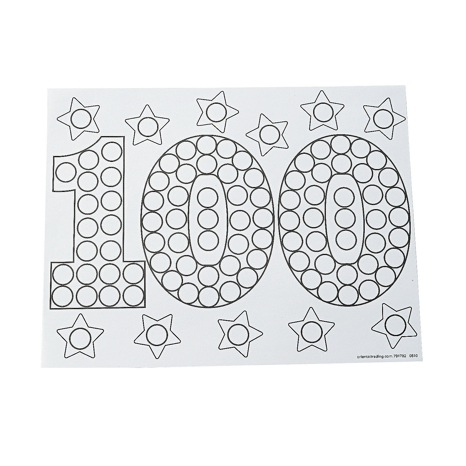 100th Day of School Coloring Pages Color Your Own 100th Day of