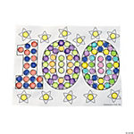 Color Your Own 100th Day of School Dot Marker Activity Sheets