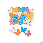 Fabric Butterfly Self-Adhesive Shapes