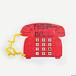 Color Your Own Emergency Phone Number Cutouts