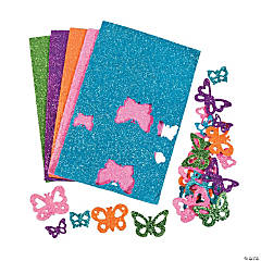Glitter Butterfly Shapes