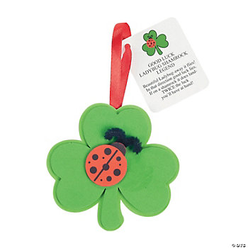 Ladybug Shamrock Ornament Craft Kit