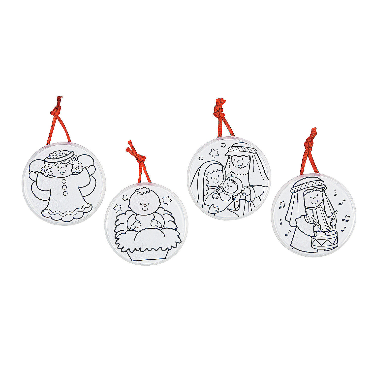 Religious Christmas Ornament: Color Your Own Religious Christmas Ornaments