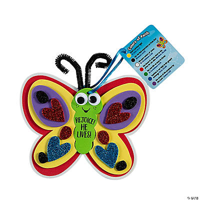 He Has Risen Colors of Faith Butterfly Craft Kit