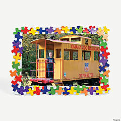 Colorful Puzzle Piece Photo Frame Craft Kit