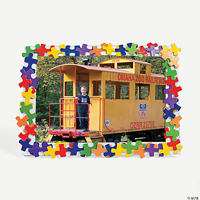 Colorful Puzzle Piece Picture Frame Craft Kit