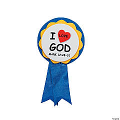 """I Love God"" Ribbon Pin Craft Kit"