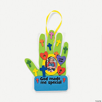 """God Made Me Special"" Handprint Photo Frame Craft Kit"