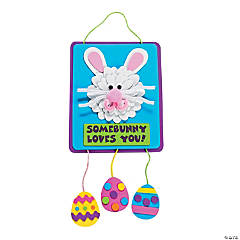 """Somebunny Loves You"" Sign Craft Kit"