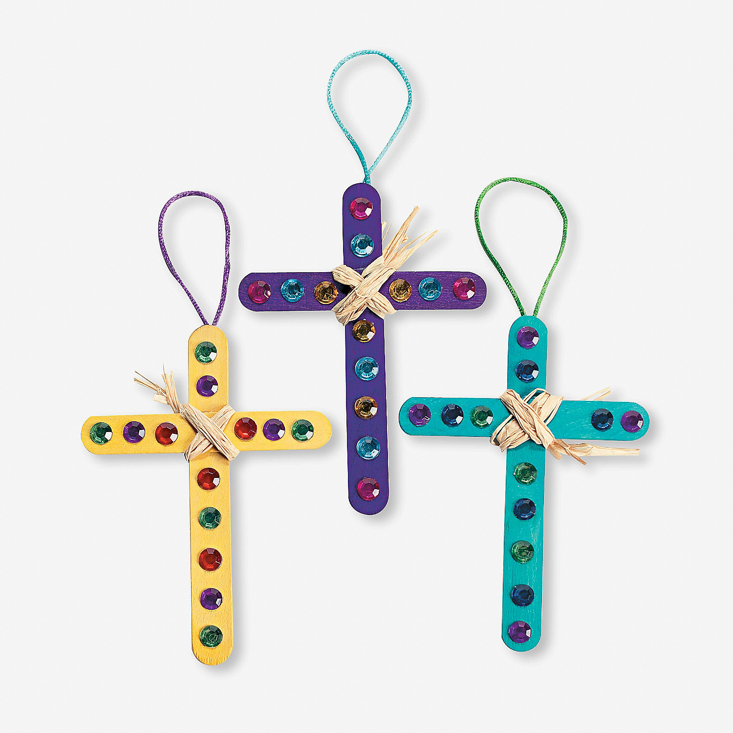 Raffia cross craft kit oriental trading discontinued for Cross craft for kids