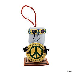 """Love, Peace & Smores"" Ornament Craft Kit"