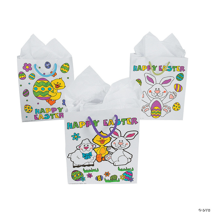 Color your own easter gift bags negle Images