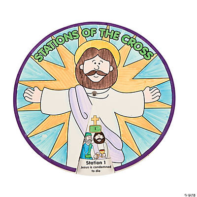 "Color Your Own ""Stations of the Cross"" Wheel"