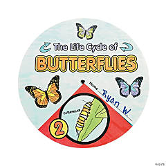 Color Your Own Butterfly Life Cycle Wheels