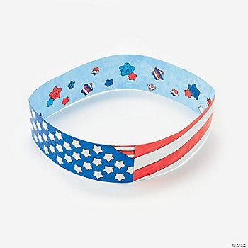 Color Your Own Patriotic Headbands