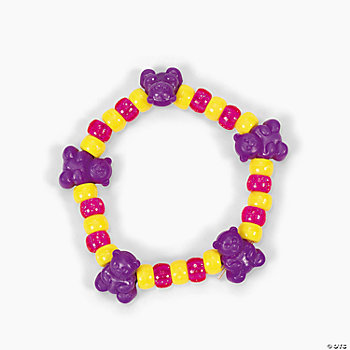 Beaded Teddy Bear Bracelet Craft Kit