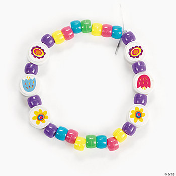 Beaded Spring Flower Bracelet Craft Kit