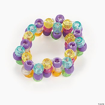 Beaded Glitter Bracelet Craft Kit