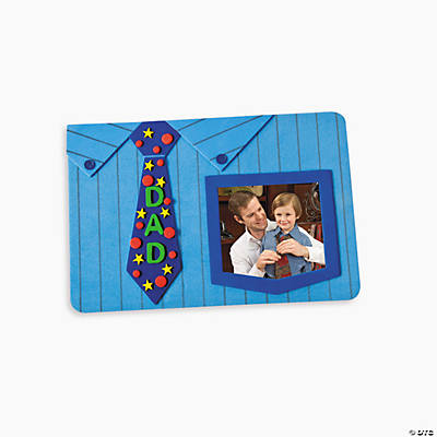 Dad' Shirt & Tie Picture Frame Magnet Craft Kit