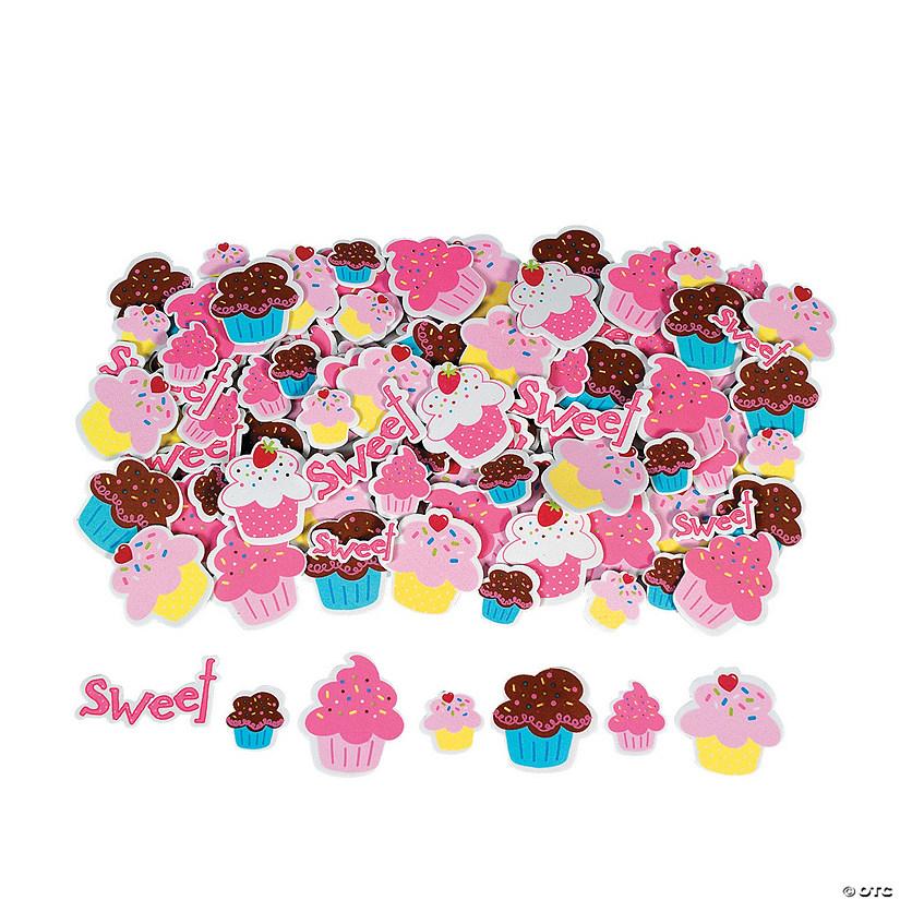Self adhesive cupcake stickers