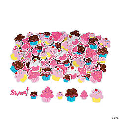 Foam Cupcake Adhesive Shapes