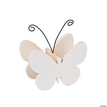 DIY Unfinished Wood Butterfly Photo Holders