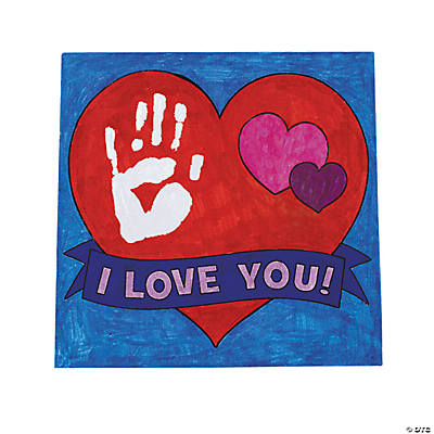"Color Your Own! ""I Love You!"" Canvases"