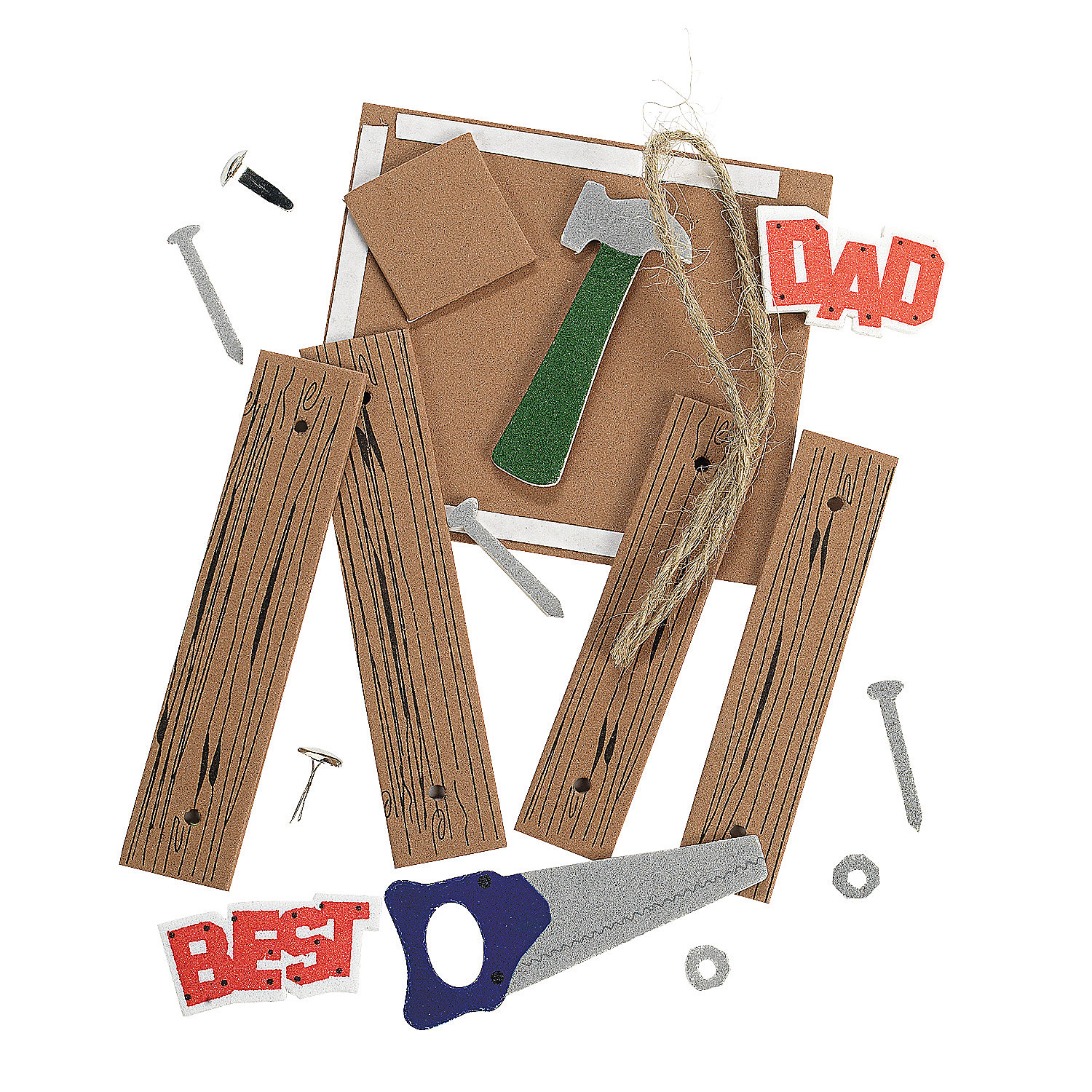 Dad tool picture frame ornament craft kit oriental trading for Photo frame ornament craft