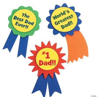 """""""#1 Dad"""" Ribbon Pin Craft Kit"""