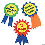 """#1 Dad"" Ribbon Pin Craft Kit"