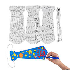 Color Your Own Father's Day Ties