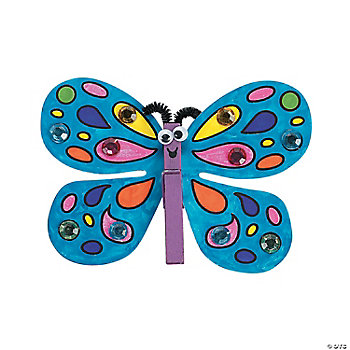 Clothespin Butterfly Magnet Craft Kit